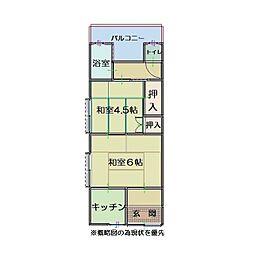 神戸市長田区長者町住宅[102号室]の間取り