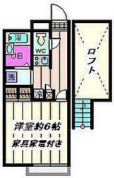 埼玉県さいたま市南区辻7丁目の賃貸アパートの間取り