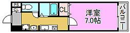 プレジオカーサII[3階]の間取り