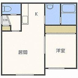 イエローフラット[2階]の間取り