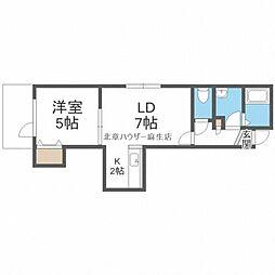 JR学園都市線 新琴似駅 3.1kmの賃貸アパート