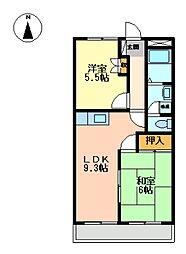 サニプレイス遊[2階]の間取り