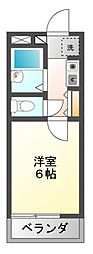 千葉県船橋市松が丘1丁目の賃貸マンションの間取り