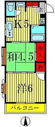 江口マンション[3階]の間取り