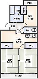 第2星崎福寿ハイツ[302号室]の間取り