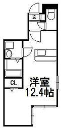 北海道札幌市中央区北四条西12丁目の賃貸マンションの間取り