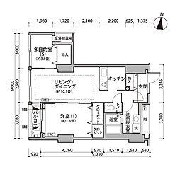 東雲キャナルコートCODAN12号棟 9階1SLDKの間取り