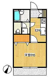 ピュアエンドー2階Fの間取り画像