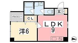 坂元町OMORIビル[404号室]の間取り