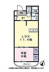 ハートヒルズ弐番館(ハートヒルズニバンカン)[4階]の間取り