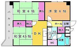 第2熊谷ビル[401号室]の間取り