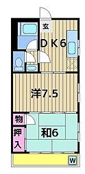 リオナマンション[405号室]の間取り