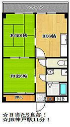 サンシャイン兵庫[3階]の間取り