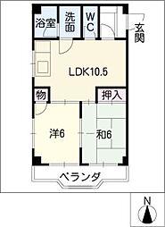 メゾン平子[3階]の間取り