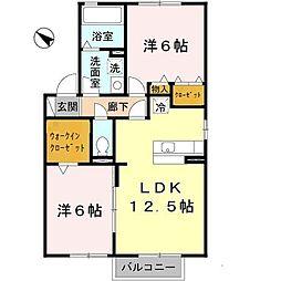 フォレスト枝吉[2階]の間取り