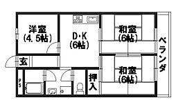ビラキヨシ[1階]の間取り