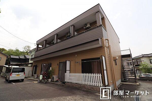 愛知県岡崎市羽根町字鰻池の賃貸アパートの外観