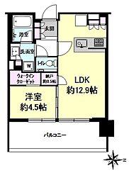 シティタワーズ東京ベイ ウエストタワー 19階1LDKの間取り