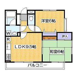 メゾンマロニエ[1階]の間取り