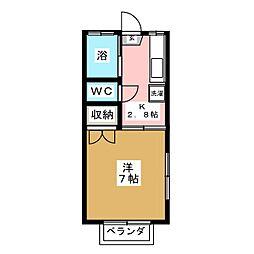 コーポチェルト[2階]の間取り