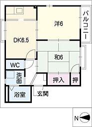 大高緑苑B棟[2階]の間取り