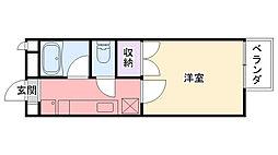 兵庫県西宮市鳴尾町3丁目の賃貸アパートの間取り