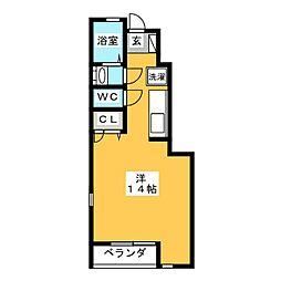 ボンジュール桃山[1階]の間取り