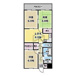 ドムール芝高[3階]の間取り