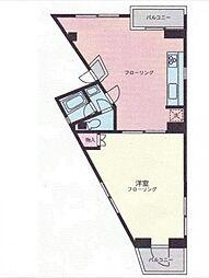 神奈川県横浜市中区山下町の賃貸マンションの間取り