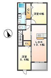 サンライフ・インIIB棟[2階]の間取り