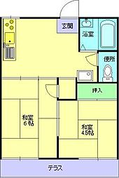 [タウンハウス] 大阪府大阪市鶴見区諸口4丁目 の賃貸【/】の間取り