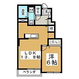 Central SoleilIII[1階]の間取り