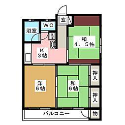 庄司アパート[2階]の間取り