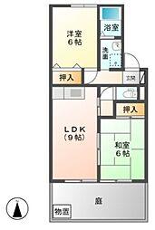 グランシャリオIWATAKI[1階]の間取り