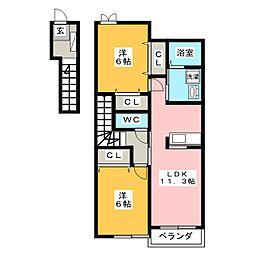 フローラタウン A[2階]の間取り