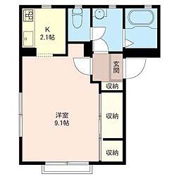 グロリアハウス[2階]の間取り