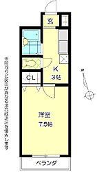 レジェ長田[702号室]の間取り