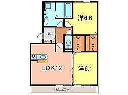アベニール横山D[301号室]の間取り
