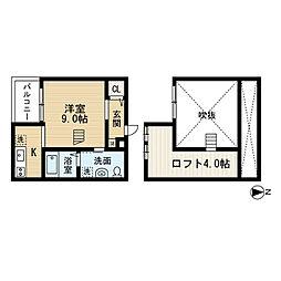愛知県名古屋市中村区鈍池町3丁目の賃貸アパートの間取り