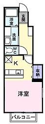 広島高速交通アストラムライン 不動院前駅 徒歩10分の賃貸アパート 1階1Kの間取り
