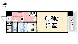 ジョイフル第3小坂[601号室]の間取り