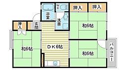 メゾン松本 A棟[203号室]の間取り