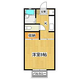 セントラル渡辺II[1階]の間取り