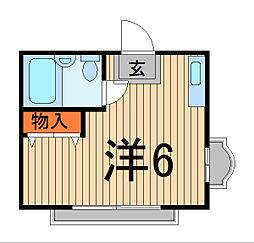 NT西川口コーポ[B203号室]の間取り