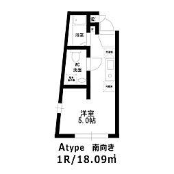 ホライゾンコート新宿西落合[203号室]の間取り