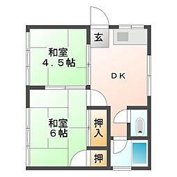 埼玉県富士見市水谷2丁目の賃貸アパートの間取り
