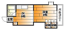 広島県広島市安佐南区祇園1丁目の賃貸マンションの間取り
