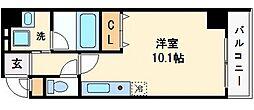 大阪府大阪市中央区瓦町4丁目の賃貸マンションの間取り