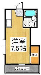 コーポ光風[2階]の間取り