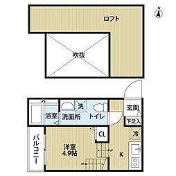 ホクラニ福大前[1階]の間取り